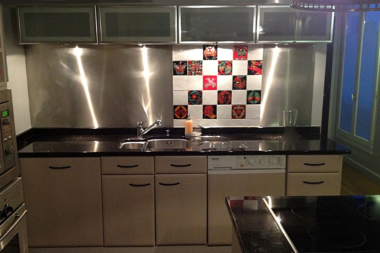 Creation of a hand painted splashback